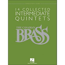Hal Leonard The Canadian Brass: 14 Collected Intermediate Quintets - Conductor's Score - Br Quintet (50486959)