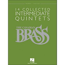 Hal Leonard The Canadian Brass: 14 Collected Intermediate Quintets - Trumpet 1 - Brass Quintet (50486954)