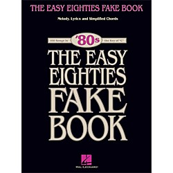 Hal Leonard The Easy Eighties Fake Book - Melody Lyrics & Simplified Chords For 100 Songs (240340)