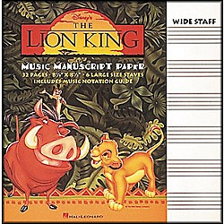 Hal Leonard The Lion King Music Manuscript Paper (210047)