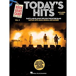 Hal Leonard Today's Hits - Rock Band Camp Vol. 2 (Book/2-CD Pack) Vocal, Guitar, Keys, Bass, Drums (121150)