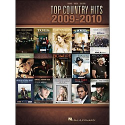 Hal Leonard Top Country Hits Of 2009-2010 arranged for piano, vocal, and guitar (P/V/G) (311979)