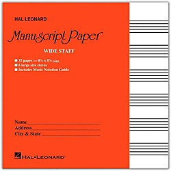 Hal Leonard Wide Staff Manuscript Paper (Red Cover) (210004)