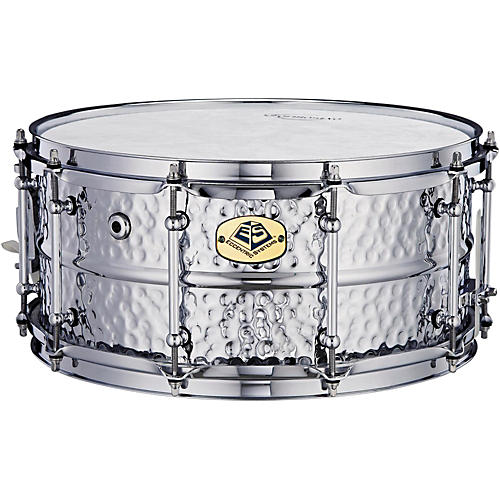 Eccentric Systems Design Hammered Chrome Steel Snare Drum-thumbnail