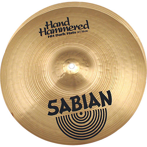 Sabian Hand Hammered Dark Hi-Hat Cymbal Pair-thumbnail