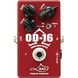 Hao OD-16 Omega Drive Sixteen Overdrive Guitar Effects Pedal (OD-16)