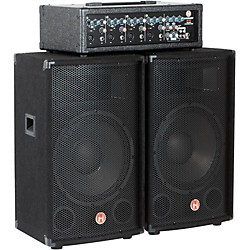 "Harbinger M120 120 Watt 4 Channel Compact Portable PA with 12"" speakers (M120)"