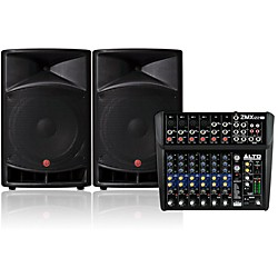 Harbinger V2115 Loudspeaker with Alto Pro ZMX122FX 8-Channel Mixer (Alto Kit 1)