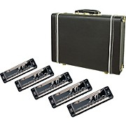 Lee Oskar Harmonica 5-Pack with Case