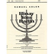 G. Schirmer Hayom Harat Olam A Cappella W/Tenor Solo(Cantor) SATB composed by S Adler