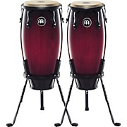 "Meinl Headliner Series 10"" & 11"" Wood conga set with Basket Stands"