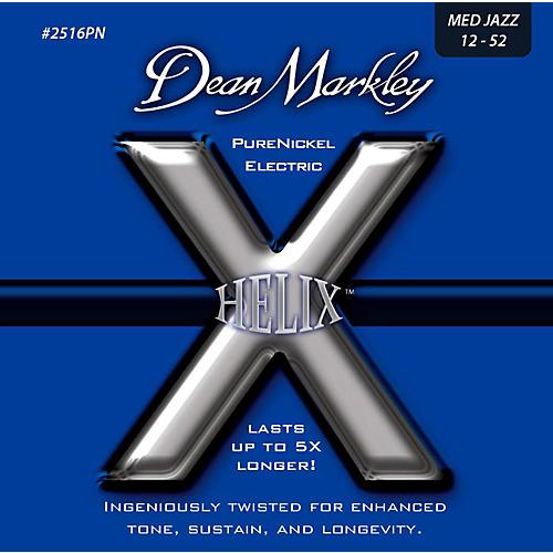 Dean Markley Helix Pure Nickel Medium Jazz Electric Guitar Strings (12-52)-thumbnail