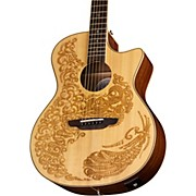 Luna Guitars Henna Paradise Spruce Acoustic-Electric Guitar