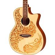 Luna Guitars Henna Paradise Spruce Series II Acoustic-Electric Guitar