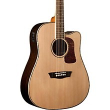 Washburn Heritage Series HD27SCE Abalone Rosette Acoustic-Electric Guitar
