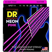 DR Strings Hi-Def NEON Pink Coated Heavy 7-String Electric Guitar Strings (11-60)
