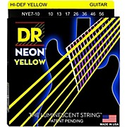 DR Strings Hi-Def NEON Yellow Coated Medium 7-String Electric Guitar Strings (10-56)