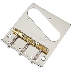 Hipshot Stainless Steel Tele Bridge 3 Hole Mount With Compensated Saddles (44100-33C)