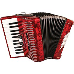 Hohner 48 Bass Entry Level Piano Accordion (1304-RED)