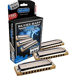 Hohner 532 Blues Harp Pro Pack - MS-Series Harmonicas (3P532BX)