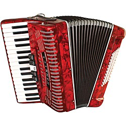 Hohner 72 Bass Entry Level Piano Accordion (1305-RED)
