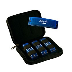 Hohner BIP Blue Ice Harmonica, 3 Pack with Zippered Carrying Case (BIP)