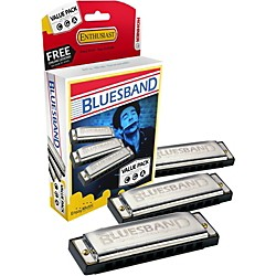 Hohner Blues Band Harmonica Value Pack (3P1501BX)