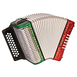 "Hohner Corona II Classic, Key of ""GCF"" Diatonic ACC Accordion (3523GRWG)"