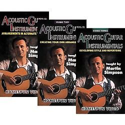 Homespun Acoustic Guitar Instrumentals 3-Video Set (VHS) (641029)