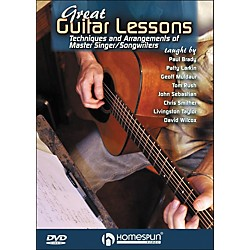 Homespun Great Guitar Lessons: Techniques And Arrangements Of Master Singer / Songwriters DVD (642122)