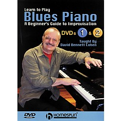Homespun Learn To Play Blues Piano Lessons 1 and 2 DVD (00641765)