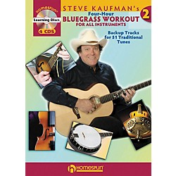Homespun Steve Kaufman's Four-Hour Bluegrass Workout, Volume Two (Book with 4-CD Set) (642067)