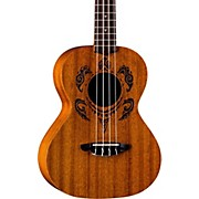 Luna Guitars Honu Tribal Turtle Tenor Ukulele
