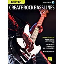 Hal Leonard How to Create Rock Bass Lines Bass Instruction Series Softcover Audio Online Written by Steve Gorenberg