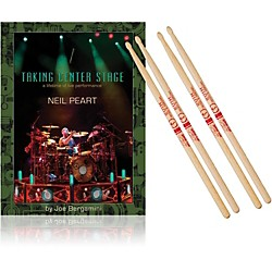 Hudson Music Taking Center Stage Book and Neil Peart Autograph Stick Pack (NPB-747K)