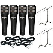 Audix I-5 Mic with Cable and Stand 4 Pack