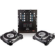 EPSILON INNO-PROPAK DJT-1300 USB Turntable (2) and INNO-MIX2 Mixer (1)
