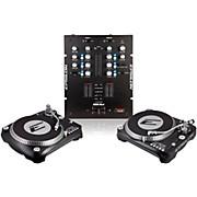EPSILON INNO-PROPAK DJT-1300 USB Turntable (2) and INNO-MIX2 Mixer (1)