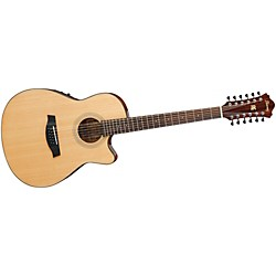 Ibanez AEF1512ENT 12-String Cutaway Acoustic-Electric Guitar (AEF1512ENT)