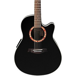Ibanez AEF18E Acoustic-Electric Guitar with Onboard Tuner (AEF18EBK)