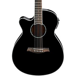 Ibanez AEG10LII Lefty Cutaway Acoustic-Electric Guitar (AEG10LIIBK)