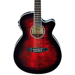 Ibanez AEG20II Flamed Sycamore Top Cutaway Acoustic-Electric Guitar (AEG20IITRS)