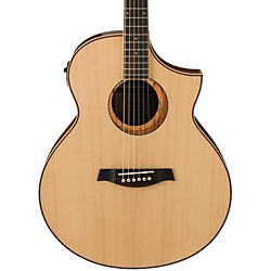 Ibanez AEW21VKNT Ovangkol Exotic Wood Acoustic-Electric Guitar (AEW21VKNT)