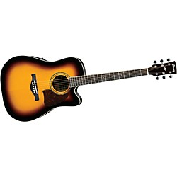 Ibanez AW300ECE Artwood Solid Top Dreadnought Cutaway Acoustic-Electric Guitar (AW300ECEVS)