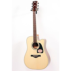 Ibanez Artwood AW300ECE Solid Top Dreadnought Cutaway Acoustic-Electric Guitar (USED005002 AW300ECENT)