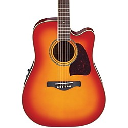 Ibanez Artwood Series AW300ECE Solid Top Dreadnought Cutaway Acoustic-Electric Guitar (USED004000 AW300ECECS)