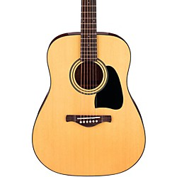 Ibanez Artwood Series AW50 Solid Top Dreadnought Acoustic Guitar (AW50NT)