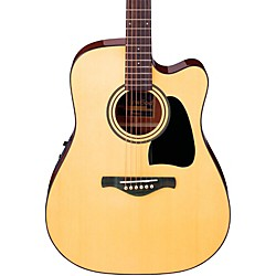 Ibanez Artwood Series AW50ECE Solid Top Dreadnought Acoustic-Electric Guitar (AW50ECENT)