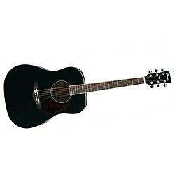 Ibanez Artwood Series AW70 Solid Top Dreadnought Acoustic Guitar (AW70BK)