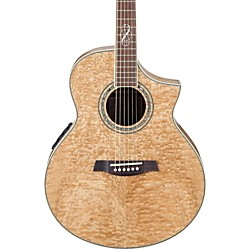 Ibanez EW20ASE Exotic Wood Figured Ash Cutaway Acoustic-Electric Guitar (EW20ASENT)